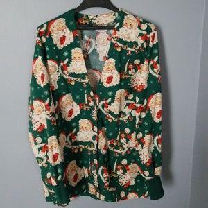 Peaches Uniforms Jackets & Coats - Christmas Santa Scrub Jacket Peaches sz M